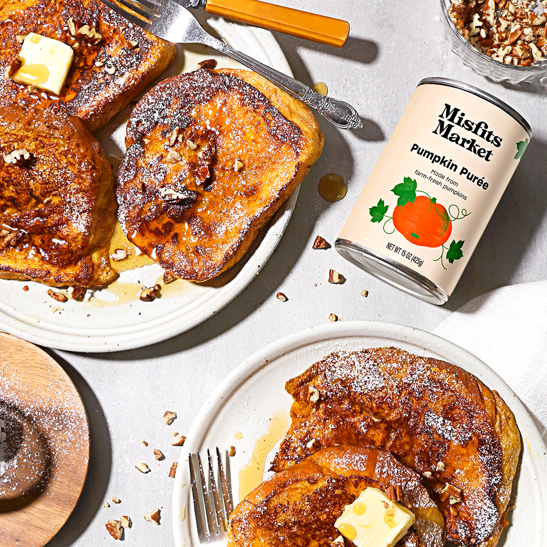 pumpkin french toast by Misfits Market